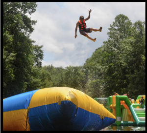 bouncing high in the air at guppy gulch