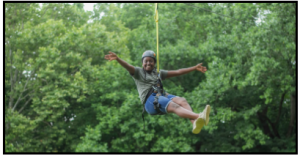 zip lining at camp sonshine